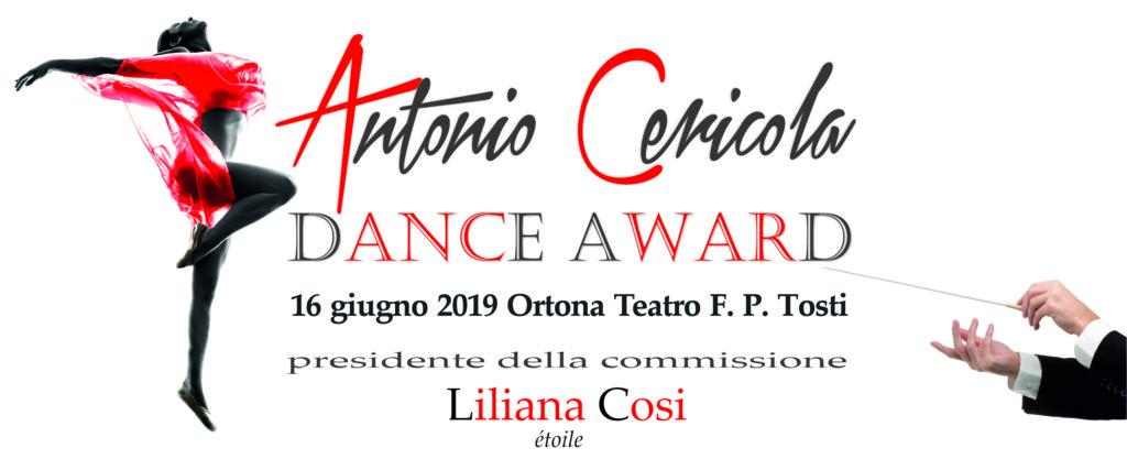 Antonio Cericola Dance Award 2019