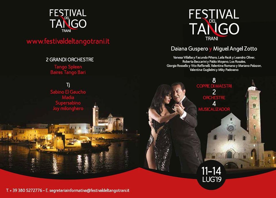 Trani città tanguera per tutti. Da giovedì 11 luglio la VII edizione del Festival del Tango