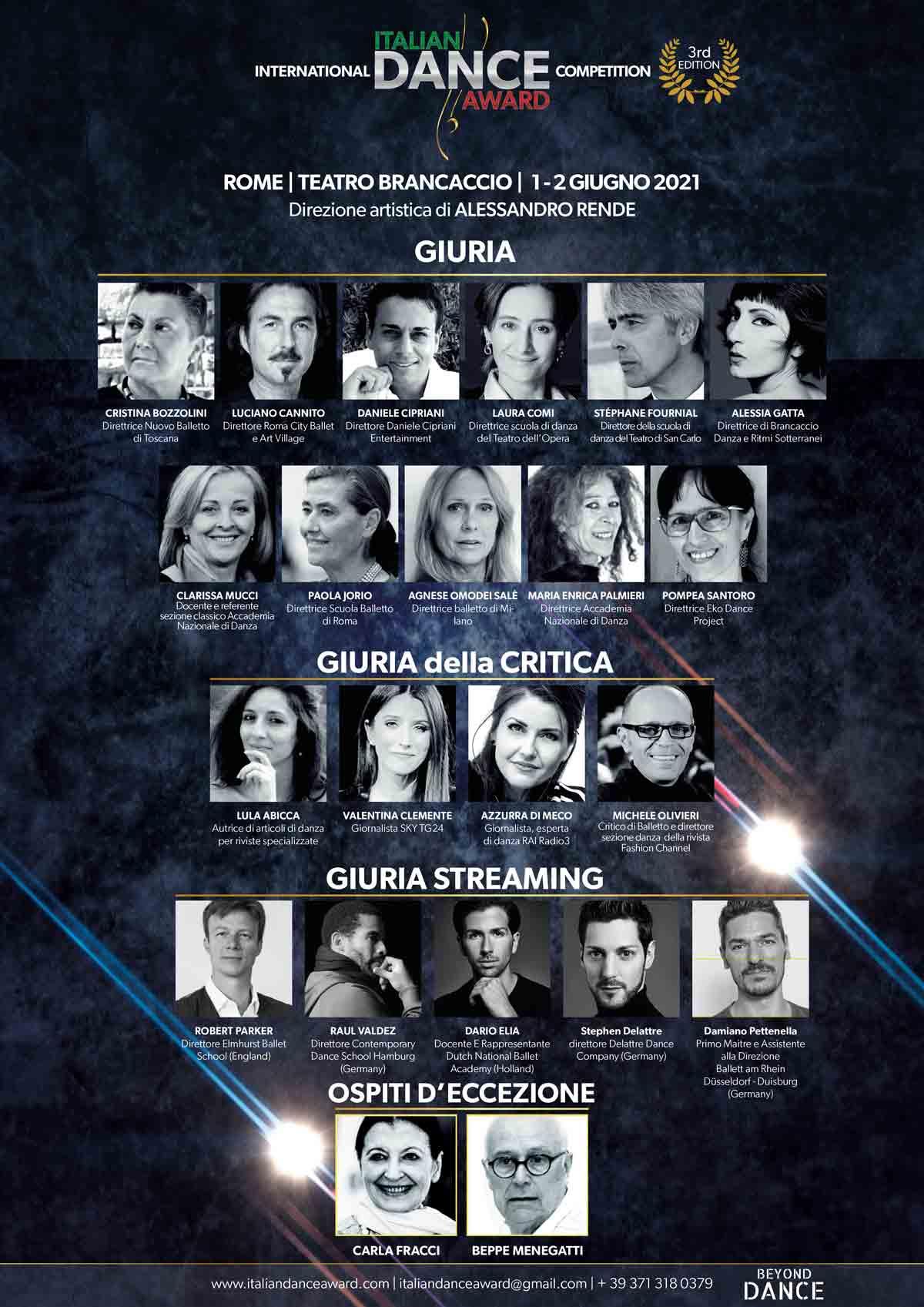 Giuria Italian Dance Award - 3° Edizione