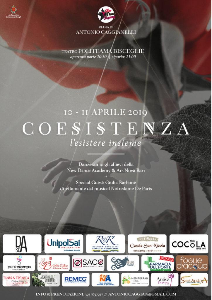 Locandina Coesistenza, 10 e 11 luglio 2019@ Teatro Politeama Bisceglie (BT)